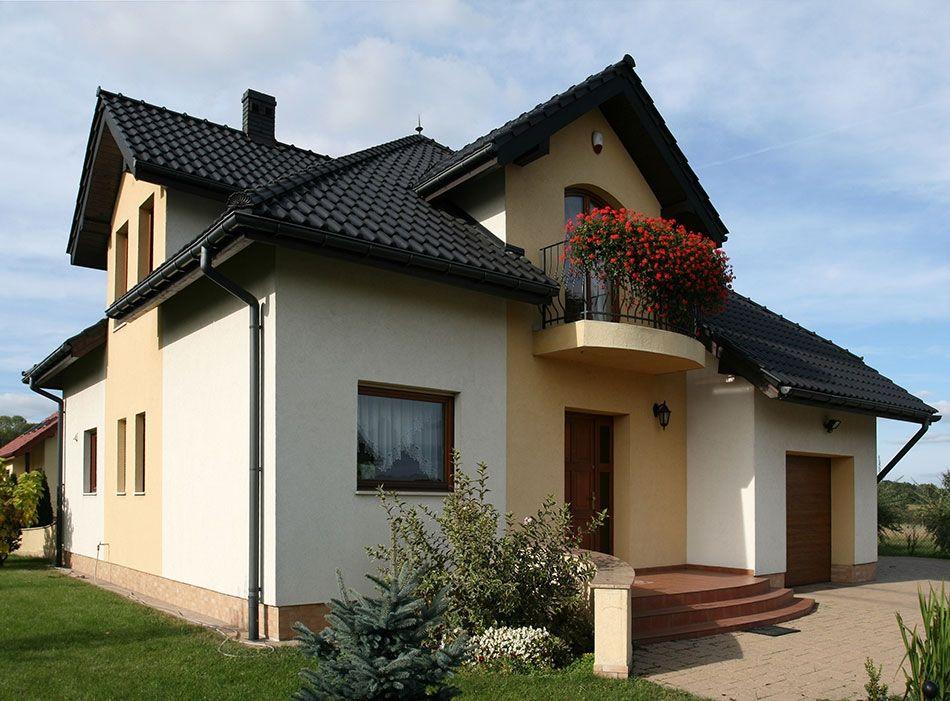 Super Elewacja domu w ciepłych kolorach - 7 najlepszych inspiracji ZR45